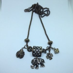 good fortune lucky charms long necklace